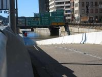 Flood of Ohio River - 376 Westbound